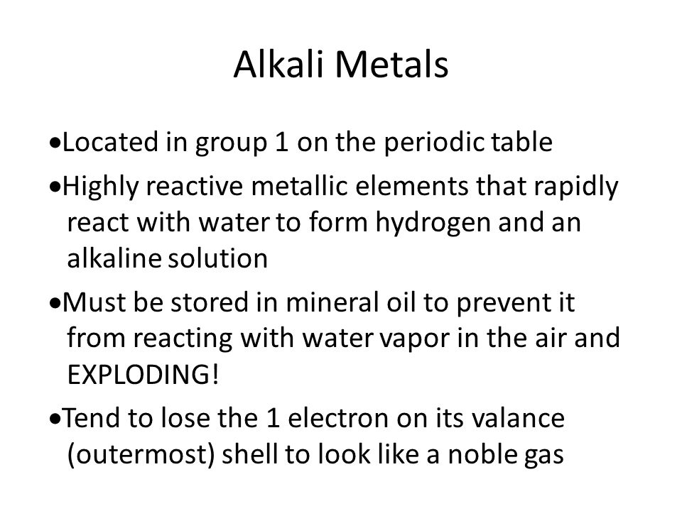 Intro to the periodic table ppt video online download 10 alkali metals located in group 1 on the periodic table urtaz Choice Image