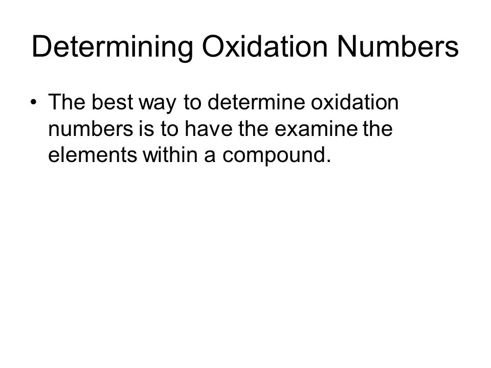 how to find oxidation numbers in compounds