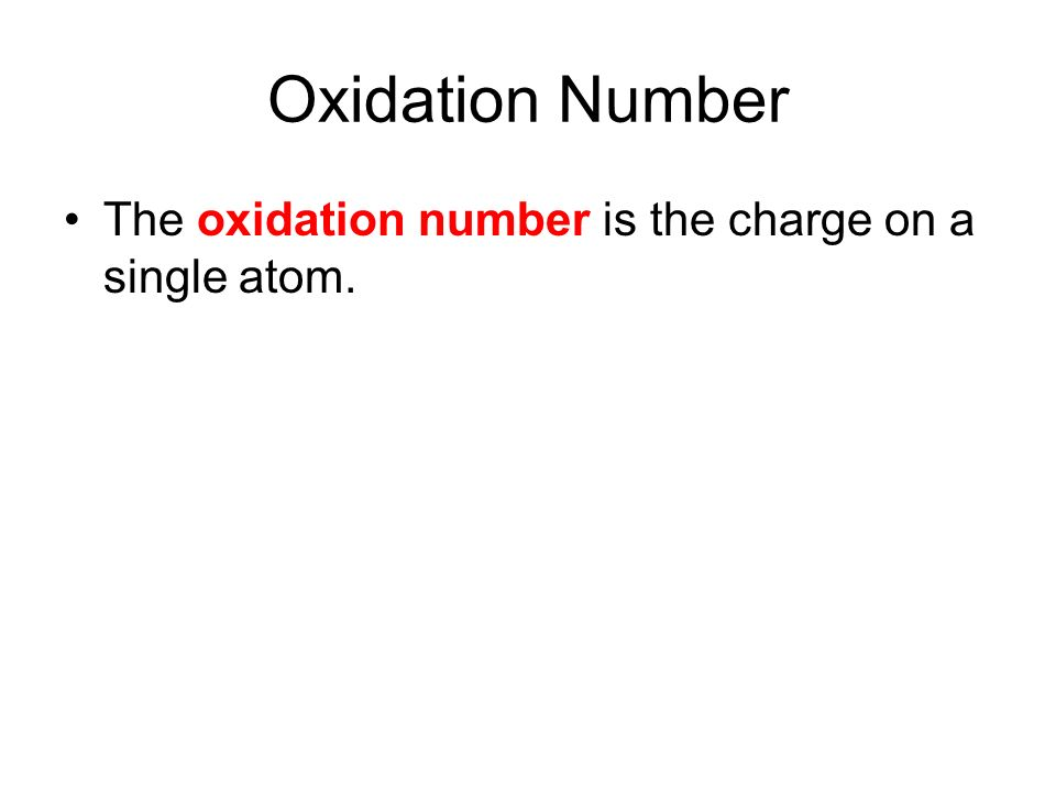 Chapter 10 Oxidation Numbers Ppt Video Online Download