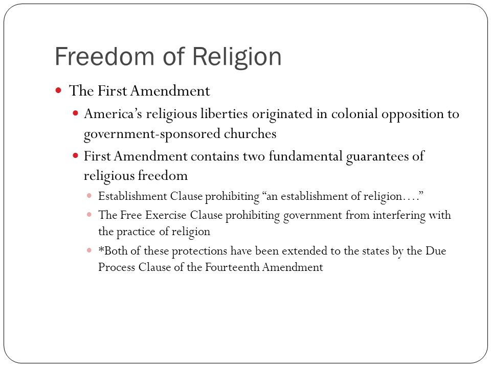 an analysis of first amendment states in america Constitution study guide (effective fall 2004) page 3 section i – united states constitution introduction to the constitution the american.