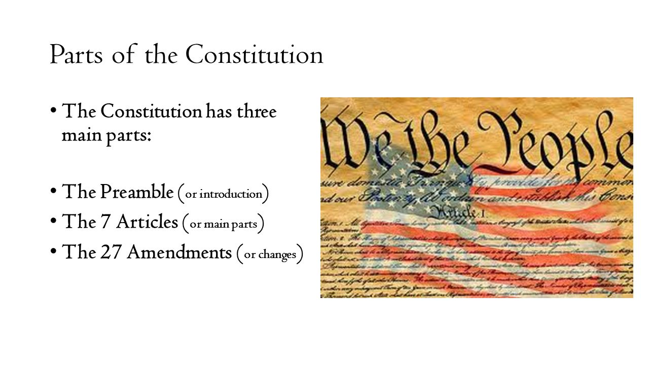 notes on the constitution