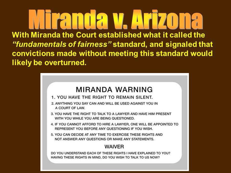 miranda should be overturned