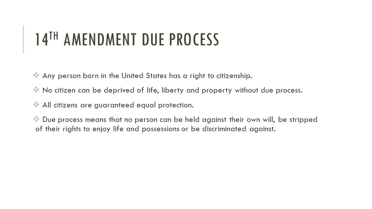 the equal protection and due process clauses in the fourteenth amendment The equal protection clause of fourteenth amendment took effect in 1868, specifying that no state will deny any person equal protection under the law.