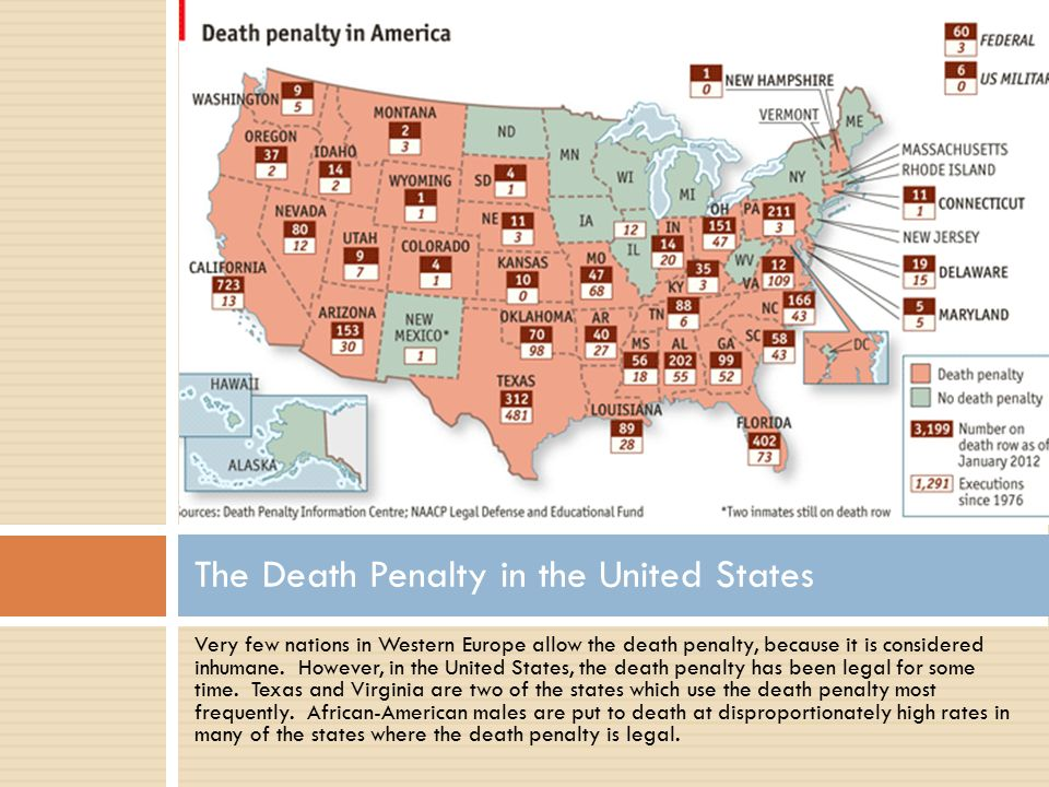 a history of death penalty in the united states Crime the death penalty in the united states is as old as the country itself, with  roots to  capital punishment has been a controversial practice ever since the.