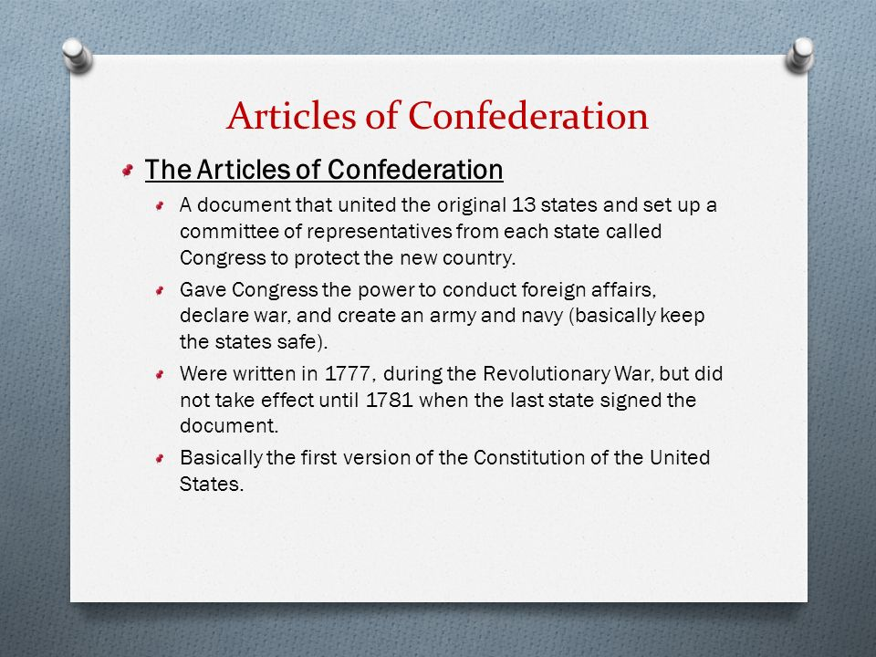 Articles of confederation foreign relations essay