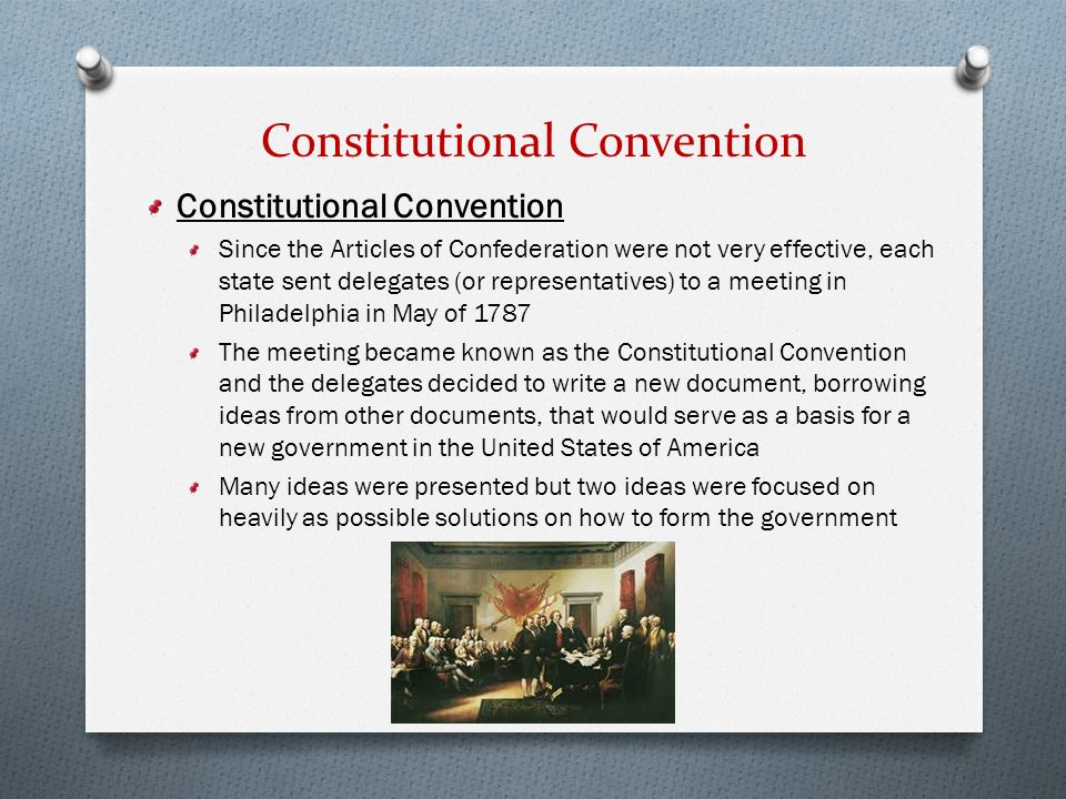 an overview of the constitutional convention and the articles of confederation in america It was 240 years ago today that the articles of confederation, the first american constitution, was sent to the 13 states for consideration it didn't last a decade, for some obvious reasons 10 reasons why america's first constitution failed - national constitution center.