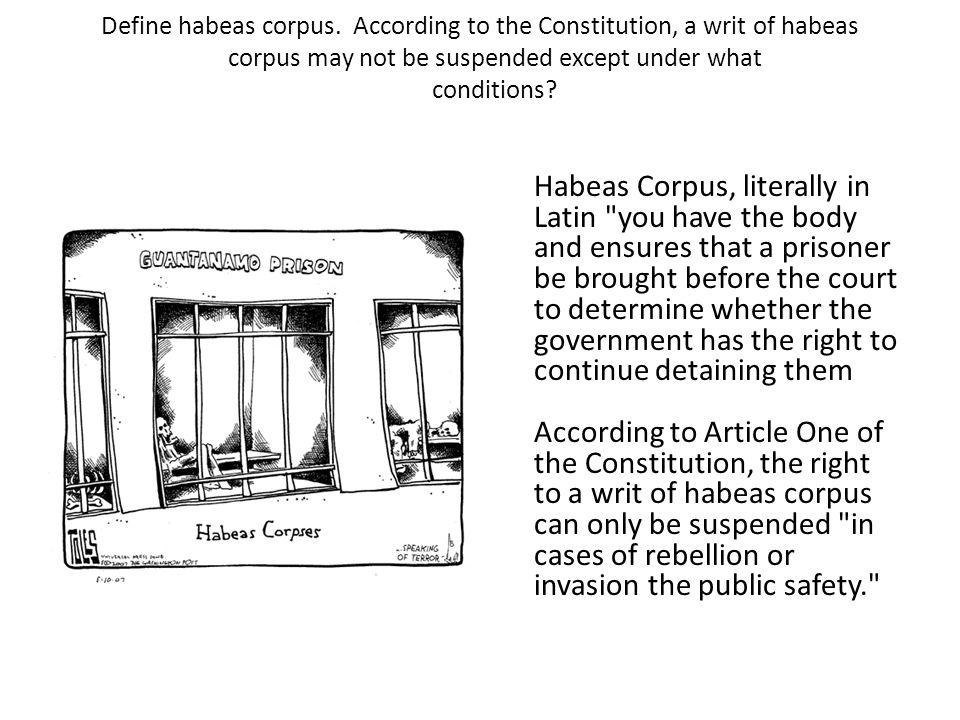 writ of habeas corpus