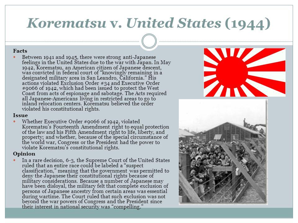 essay on korematsu v united states