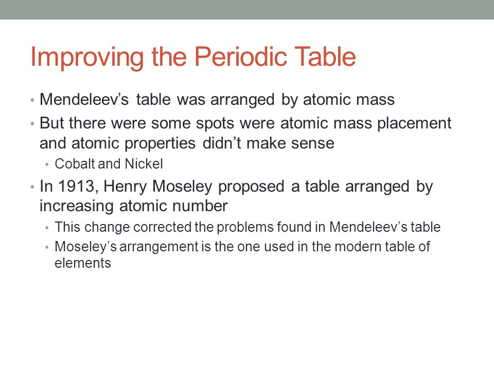 The periodic table chapter 19 section ppt download improving the periodic table urtaz Images