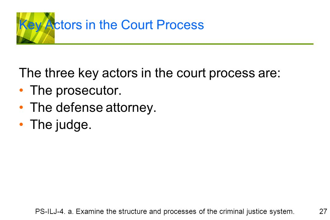 an analysis of actors in the criminal justice system The federal criminal justice system handles cases that are national in scope: treason, espionage, assassination of top-level government officials, among others meanwhile, state criminal justice systems handle crimes that have taken place or, in certain situations, have evident involvement in the state.