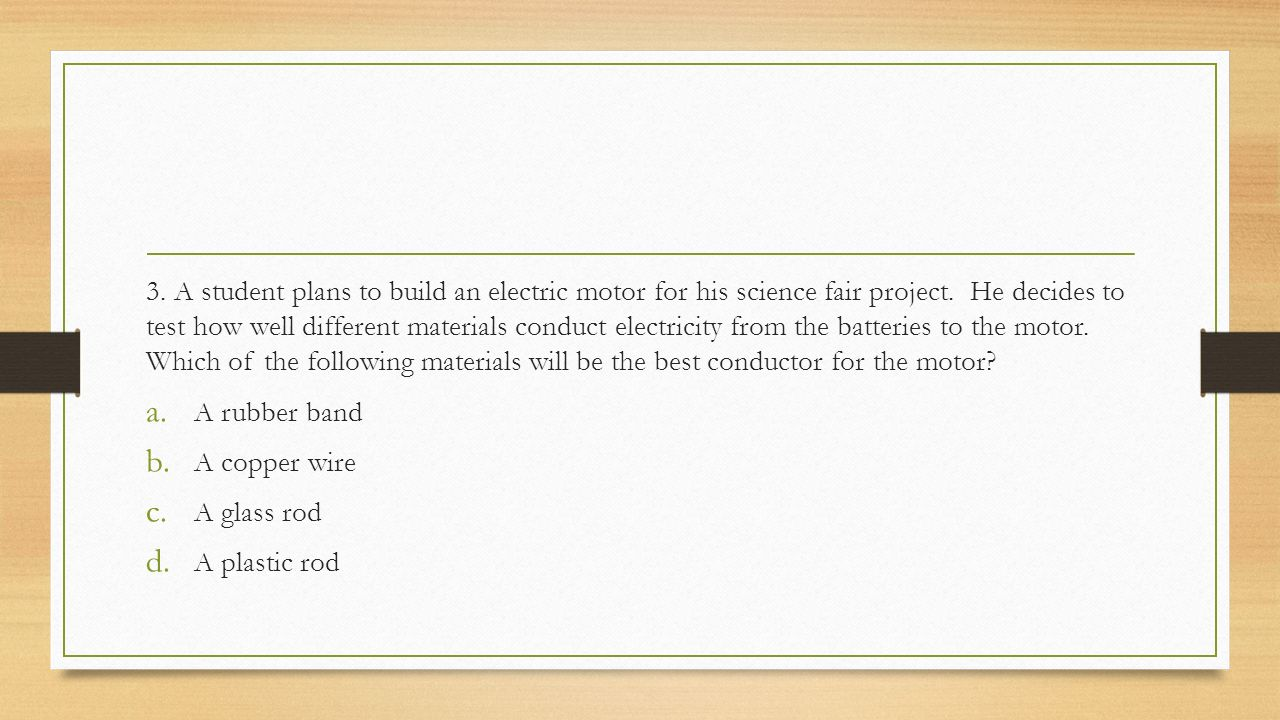 8th grade science eog review ppt download for Electric motor science fair project