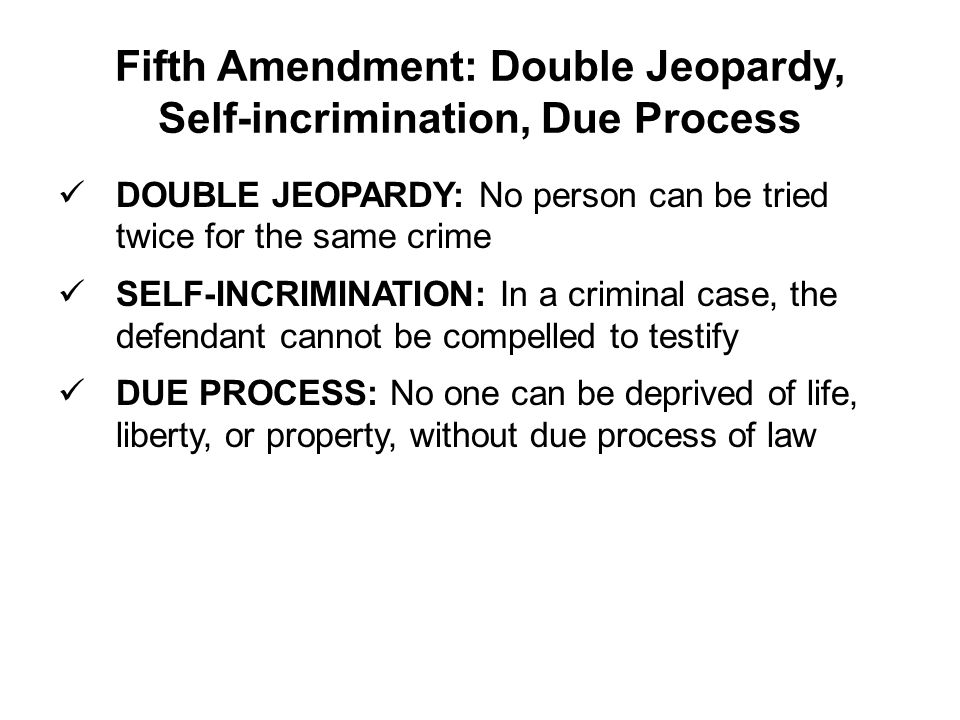 "the issue of the deprivation of life liberty or property without due process of law in the fifth and Denied her due process of law when, without adequate  the fifth amendment provides that ""[n]o person shall  be    deprived of life, liberty, or property ."