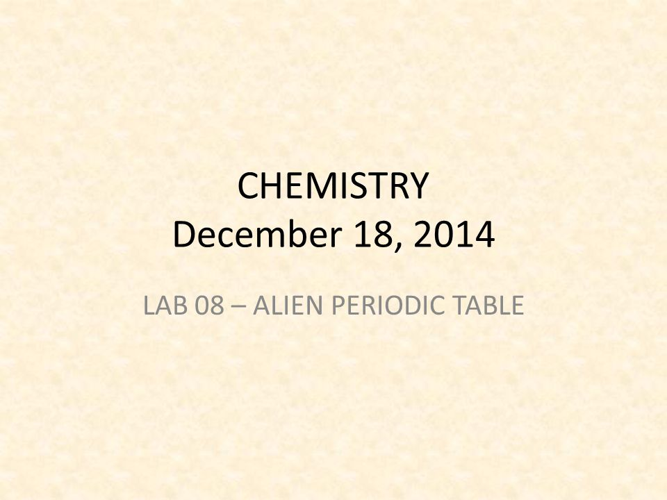 Lab 08 alien periodic table ppt video online download lab 08 alien periodic table urtaz Gallery