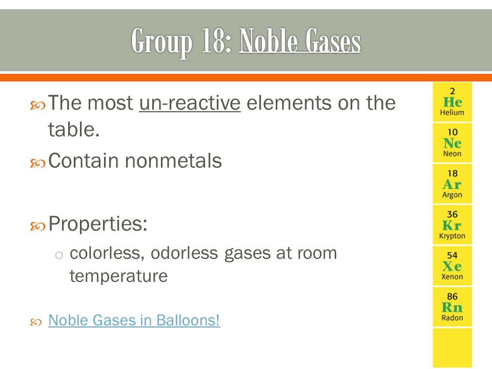 Noble Gases State At Room Temperature