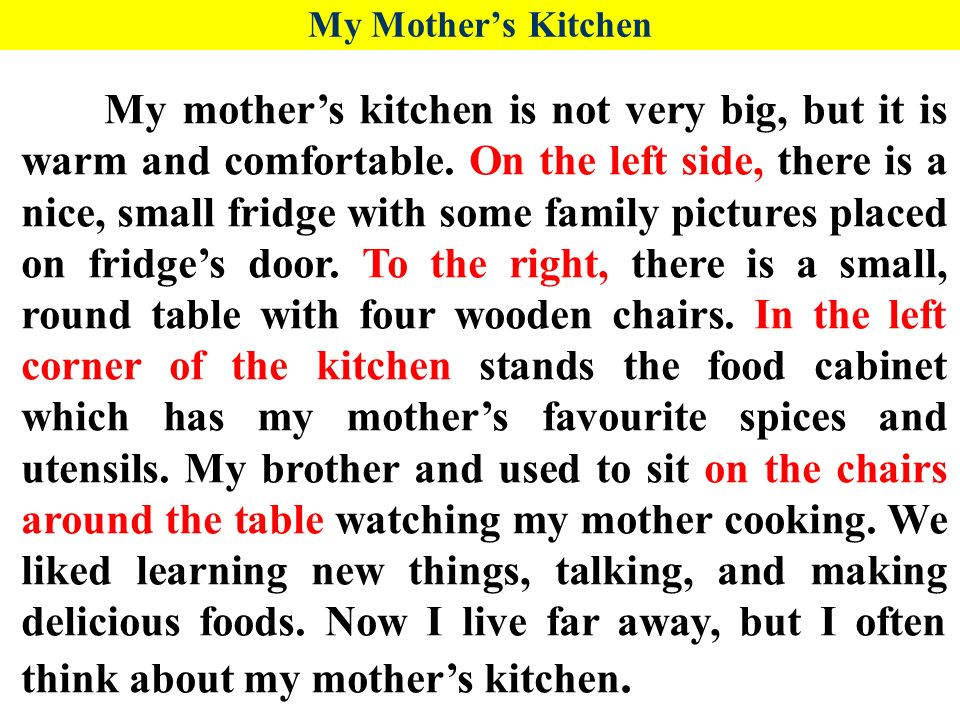 A Woman S Place Is In The Kitchen Essay
