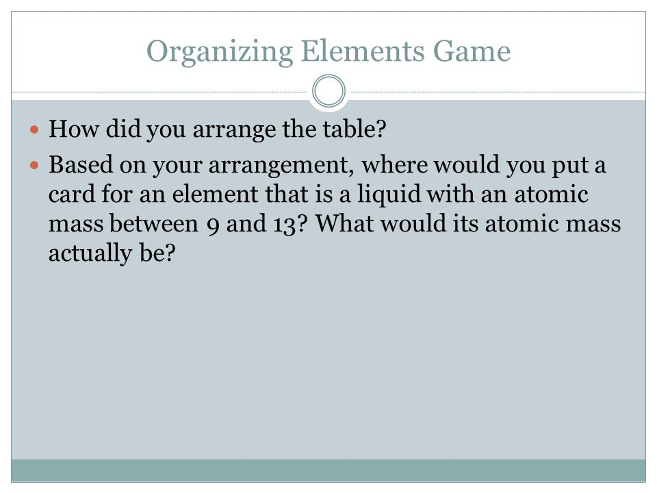 Periodic table periodic table of elements jeopardy game periodic periodic table periodic table of elements jeopardy game the periodic table chapter ppt video online urtaz Image collections