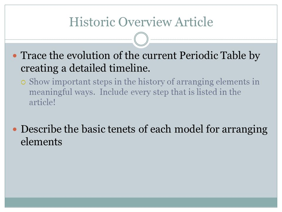The periodic table chapter ppt video online download 4 historic overview article urtaz Gallery