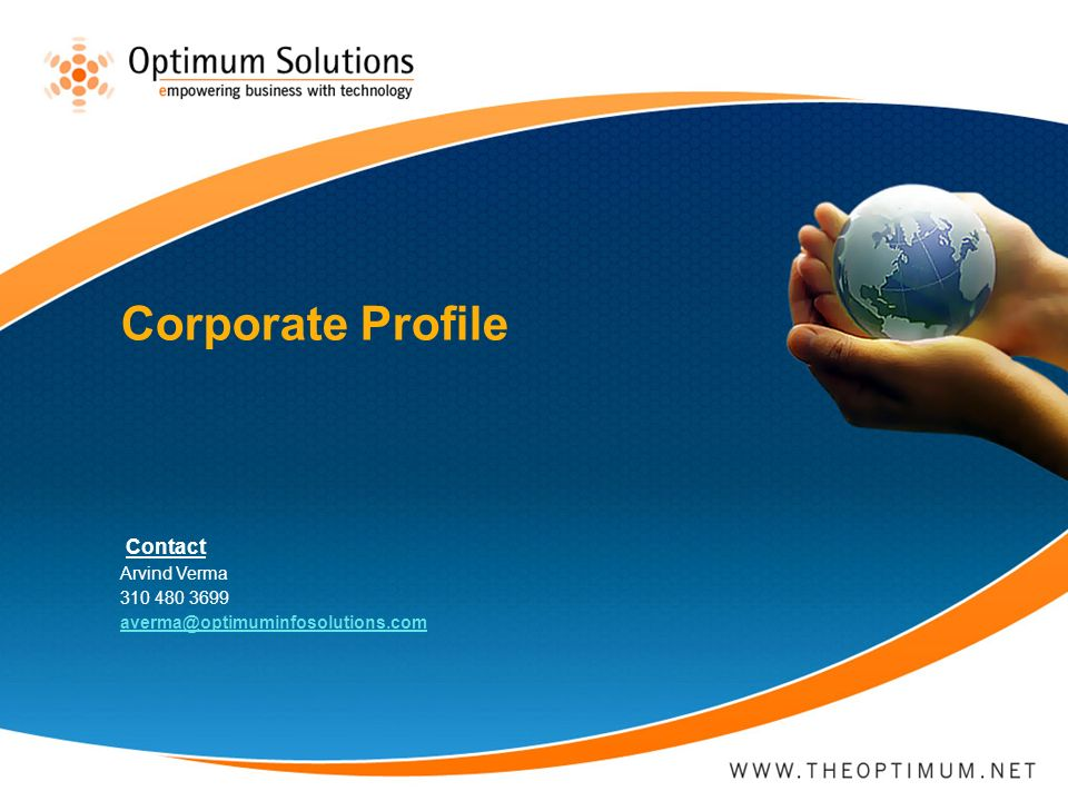 Corporate Profile Contact Arvind Verma