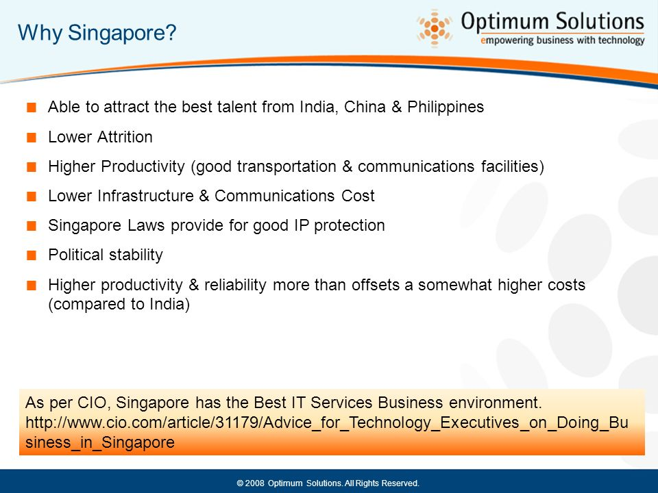 Why Singapore Able to attract the best talent from India, China & Philippines. Lower Attrition.