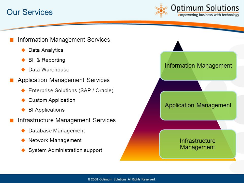 Our Services Information Management Services