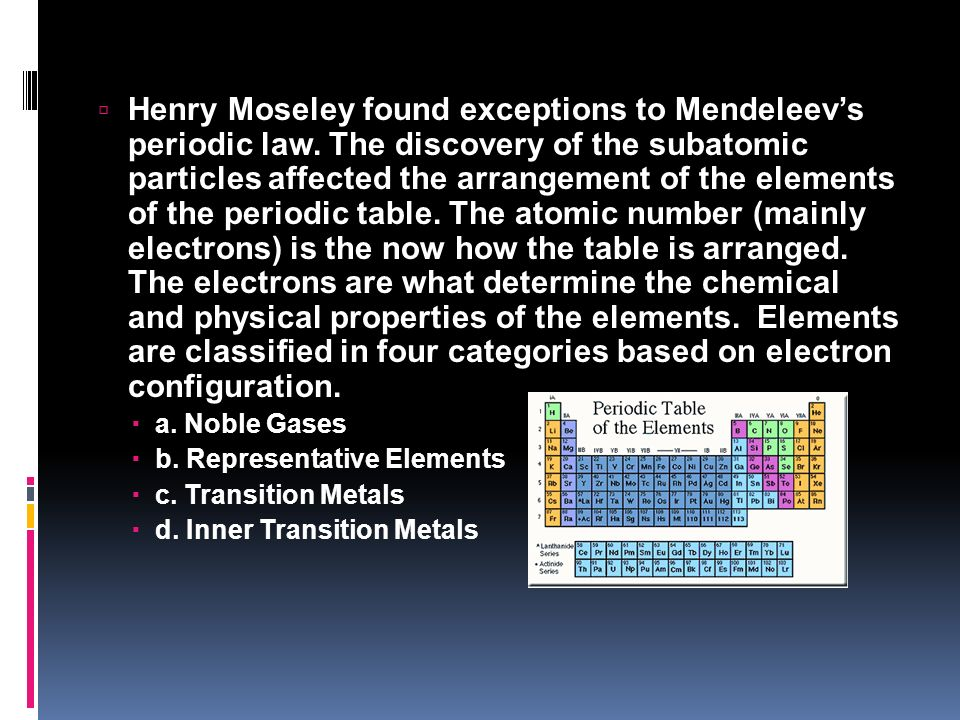 fun with the periodic table ppt video online download - Periodic Table Law