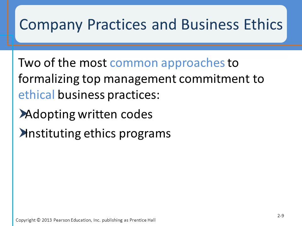 ethical business practices Good business: 10 companies with ethical corporate policies  list due to its competition-crushing business practices, the company's bad press shouldn't outshine what it does for society while .