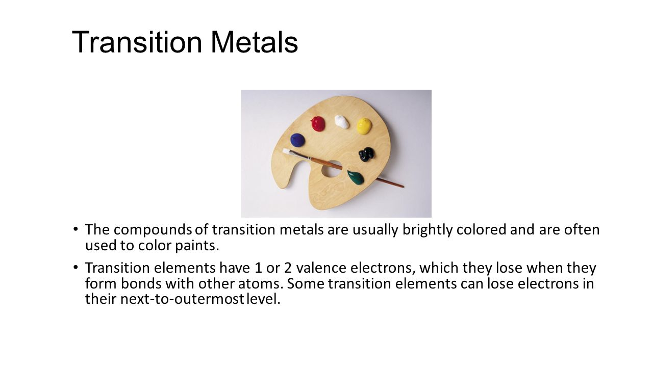 how to find valence electrons of transition metals