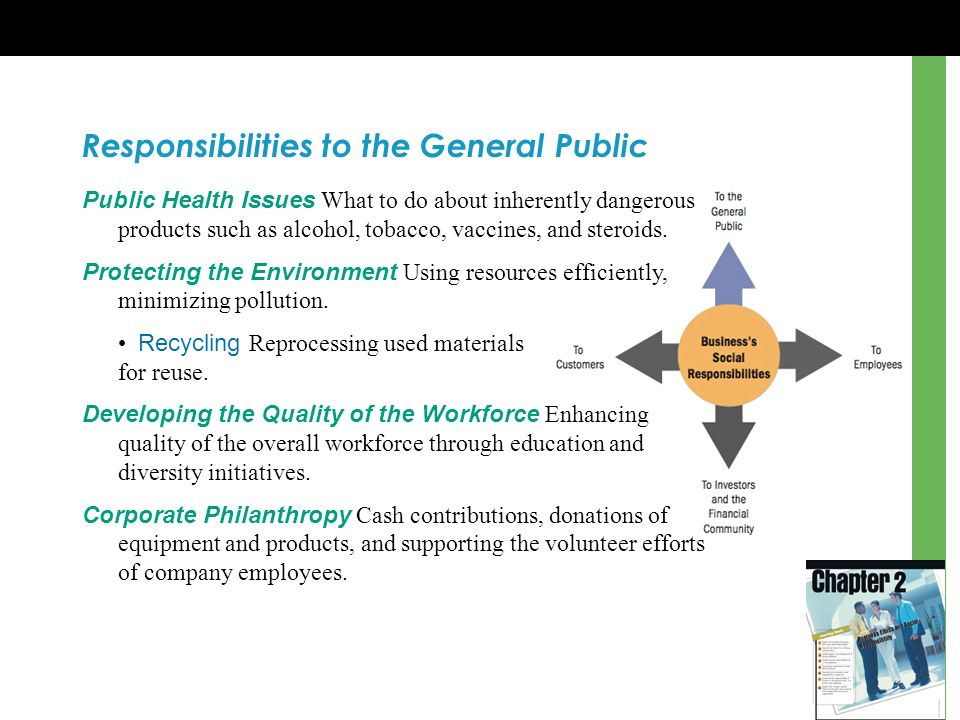 Responsibilities to the General Public
