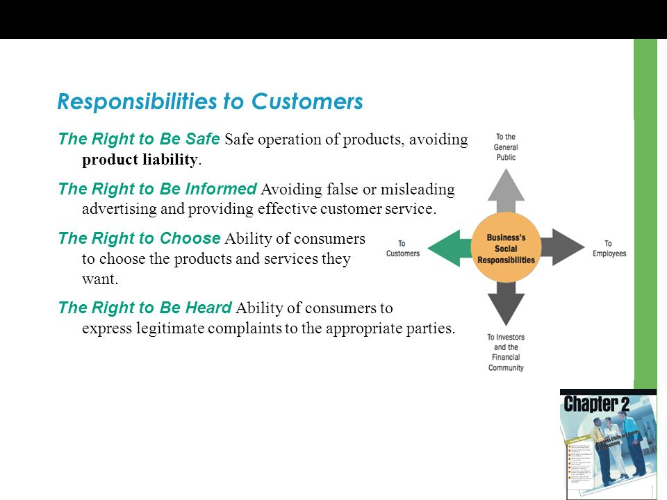 Responsibilities to Customers