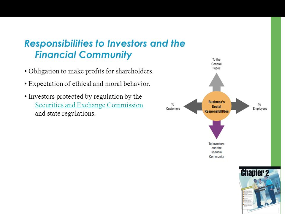 Responsibilities to Investors and the Financial Community