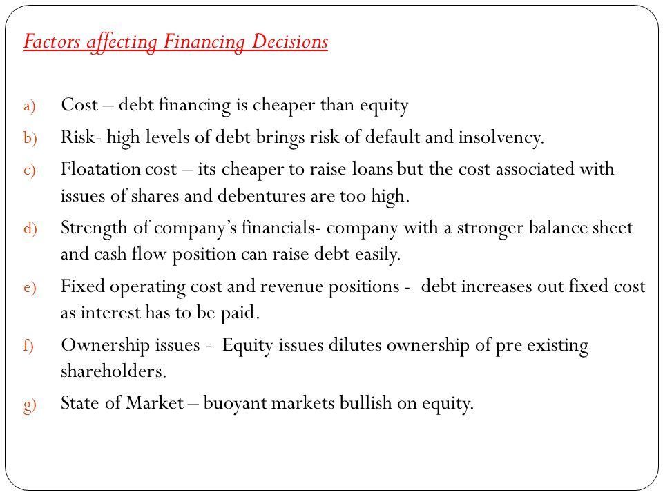 factors affecting financial decisions Objectives of capital budgeting and factors affecting capital  in tune with objectives of financial  factors affecting capital budgeting decisions are.
