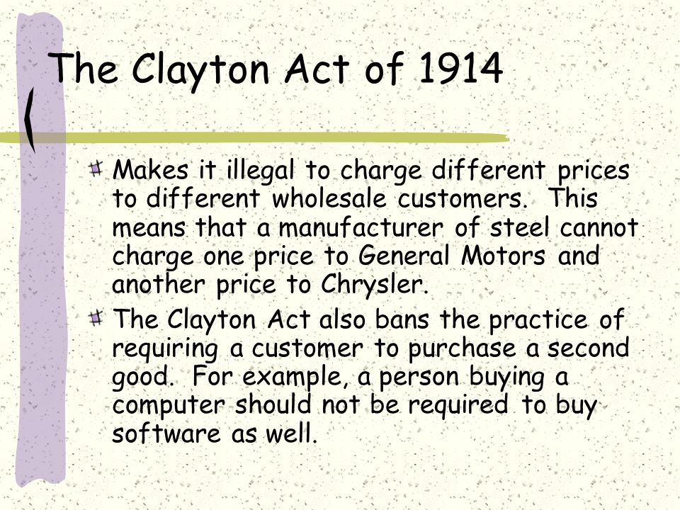 The Clayton Act of 1914