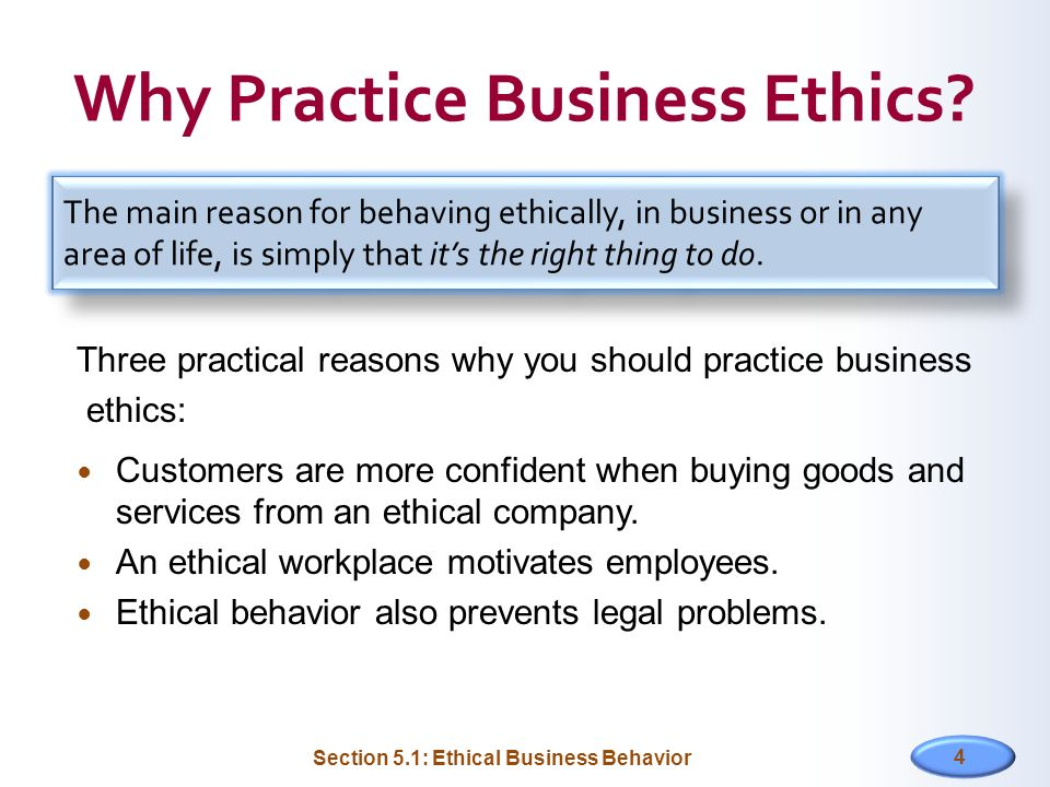 Why Practice Business Ethics