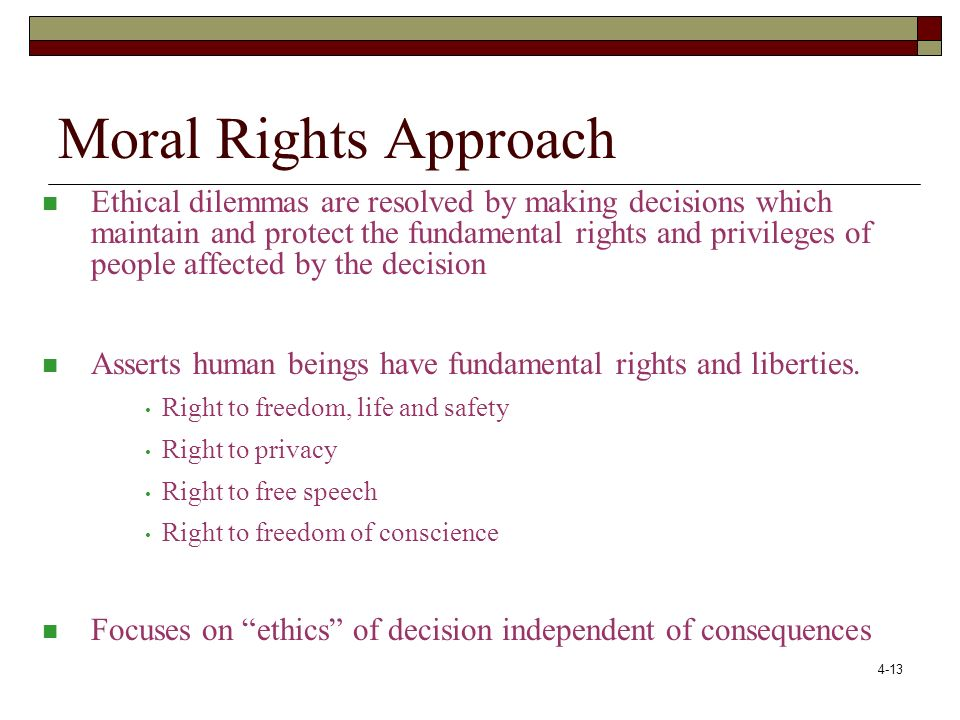 Moral Rights Approach