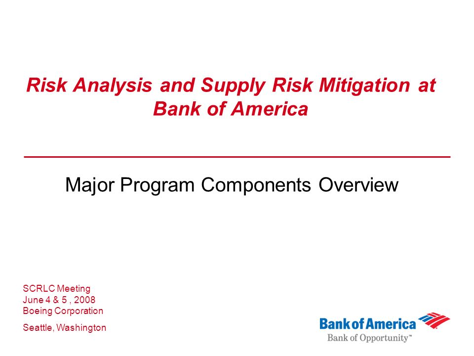 bank risk analysis The operational risk in detail: definition and issues, risk map, measurement (statistical approaches, scenario analysis, scorecards), control, definition of.