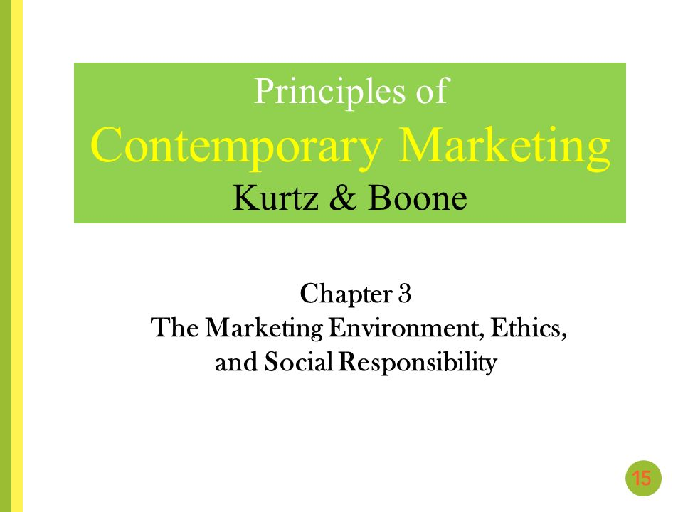 chapter 3 the marketing environment essay Chapter analyzing the marketing environment you are directed to study the actors  close to the company that affect its ability to serve its customers-departments.