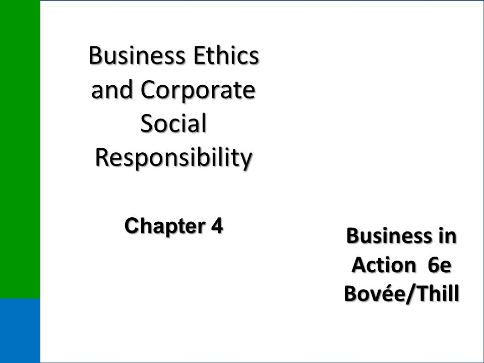 corporate actions and business ethics