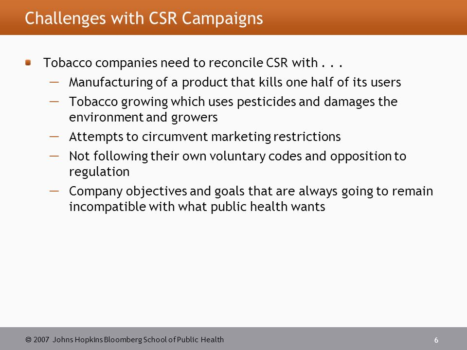 The challenges of regulating the use of tobacco in malaysia