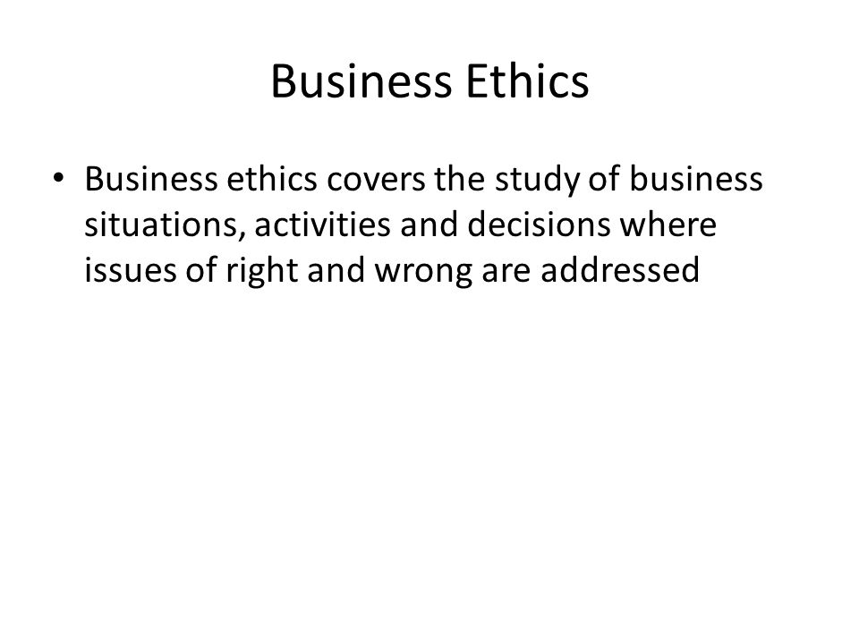 Social Responsibility and Ethics