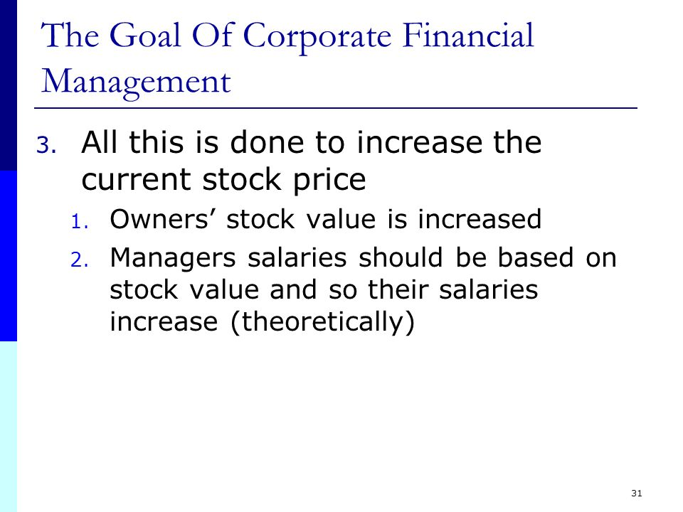 goals of financial management This article discusses the role of finance in strategic planning, decision making financial goals and metrics help firms and threats) is a classic model of internal and external analysis providing management information to set priorities and fully utilize the firm's.
