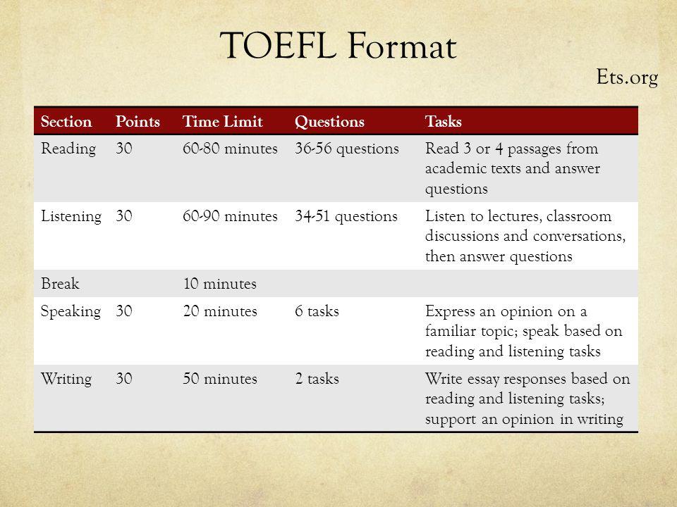 Essay tofel
