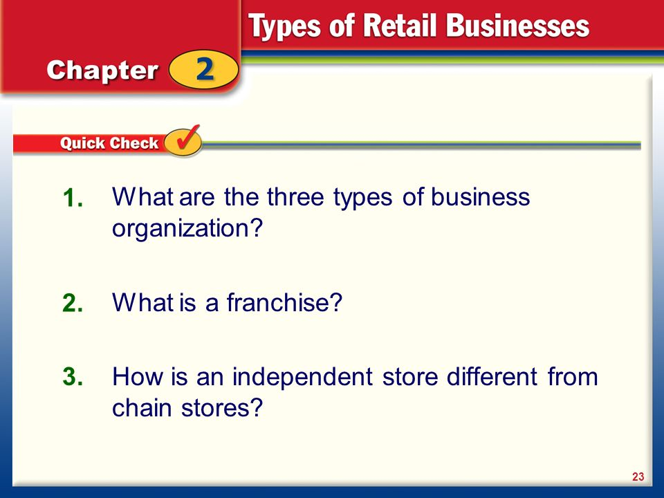 differences between chain stores and franchises Chain vs franchise in a chain business, one parent company owns all of the business locations, whereas independent owners operate individual stores in a franchised business concept.