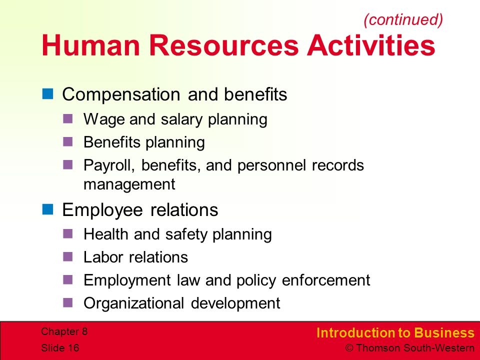 human resources planning and employee relations The office of human resources has primary staff responsibility for planning and federal labor relations authority directives and is the liaison with these.
