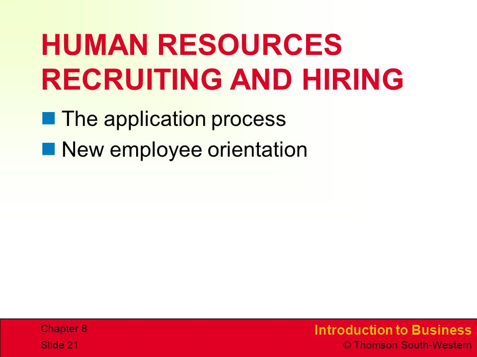 HUMAN RESOURCES RECRUITING AND HIRING