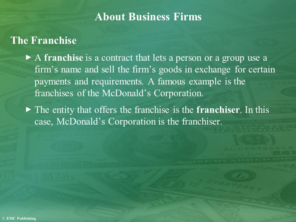 About Business Firms The Franchise