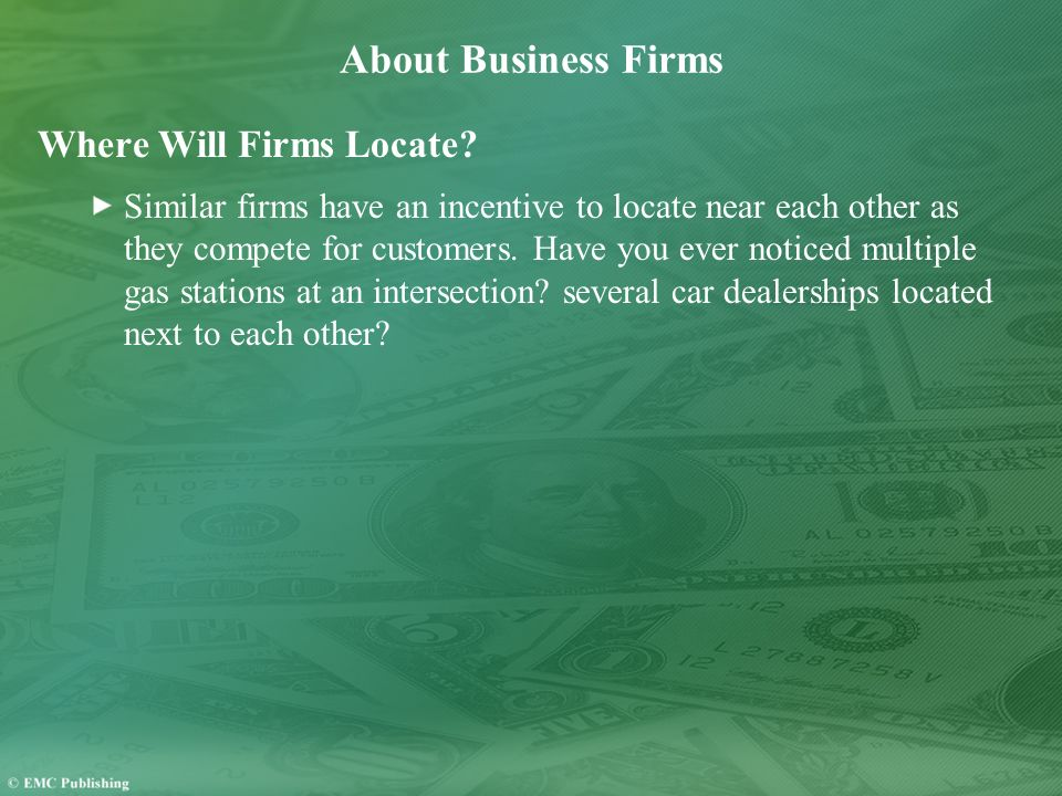 About Business Firms Where Will Firms Locate