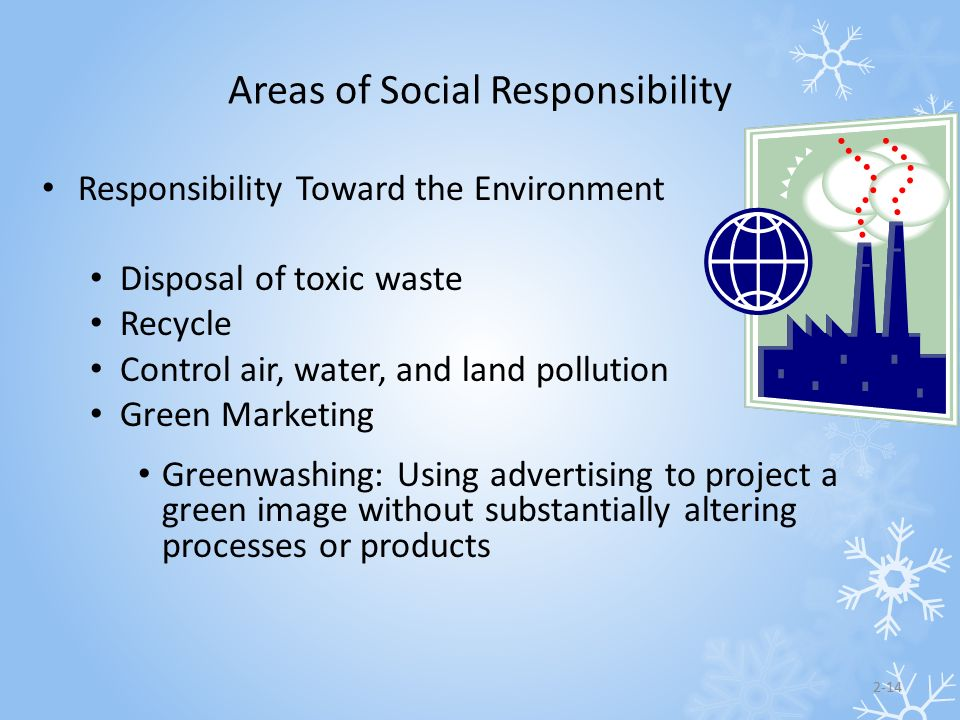 Areas of Social Responsibility