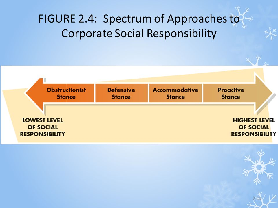 FIGURE 2.4: Spectrum of Approaches to Corporate Social Responsibility