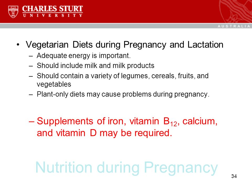 Topic 15: Diet and Life Cycle Pregnancy and Lactation ...
