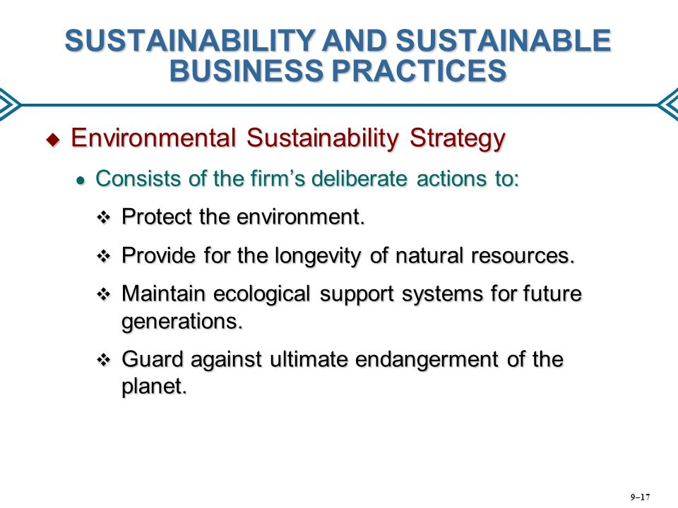 environment and sustainable resource development business plan